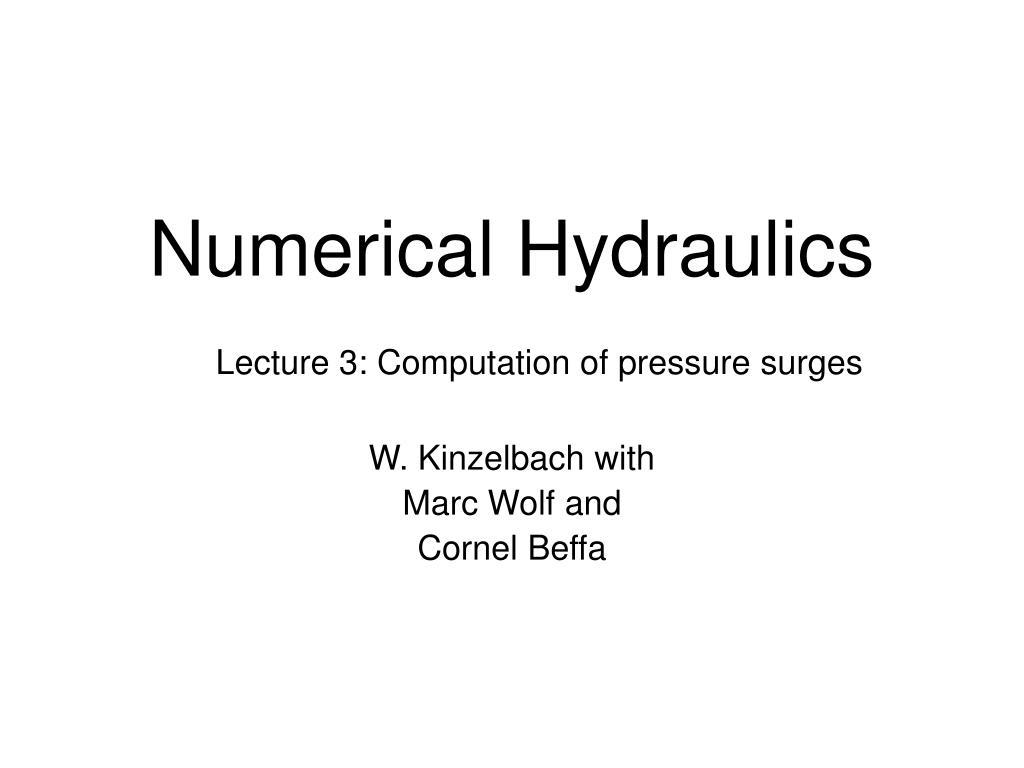 numerical hydraulics l.