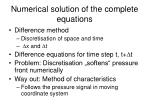 numerical solution of the complete equations