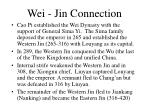 wei jin connection