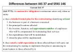 differences between ias 37 and sfas 1462