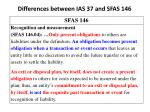 differences between ias 37 and sfas 1465