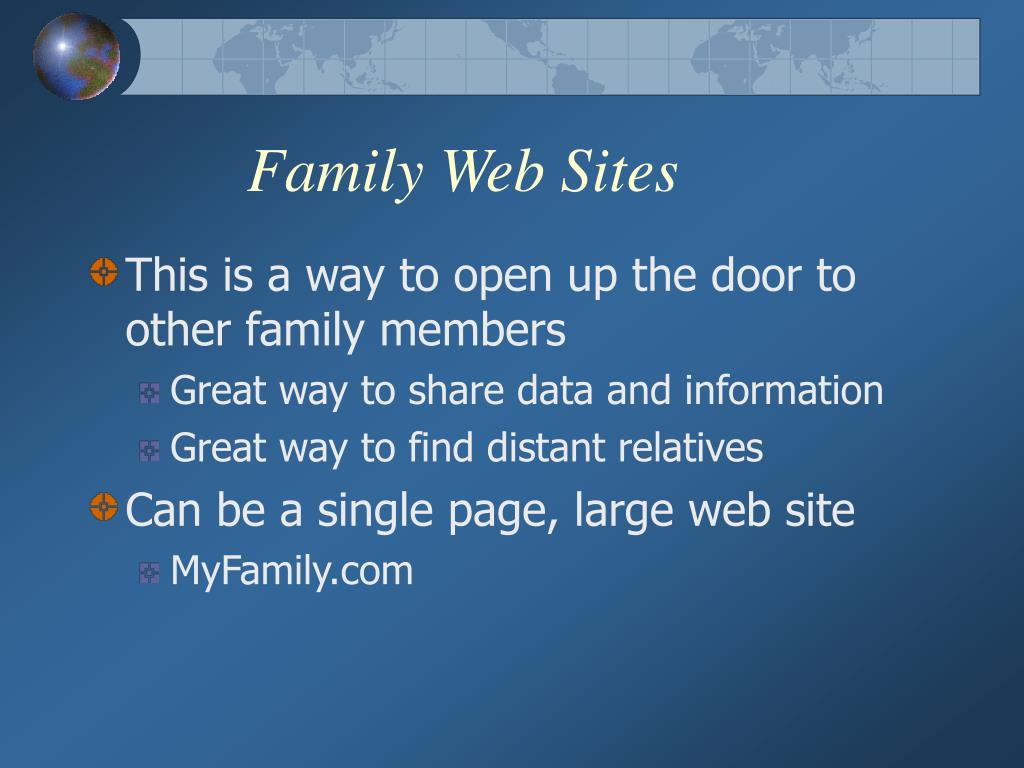 Family Web Sites
