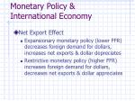 monetary policy international economy