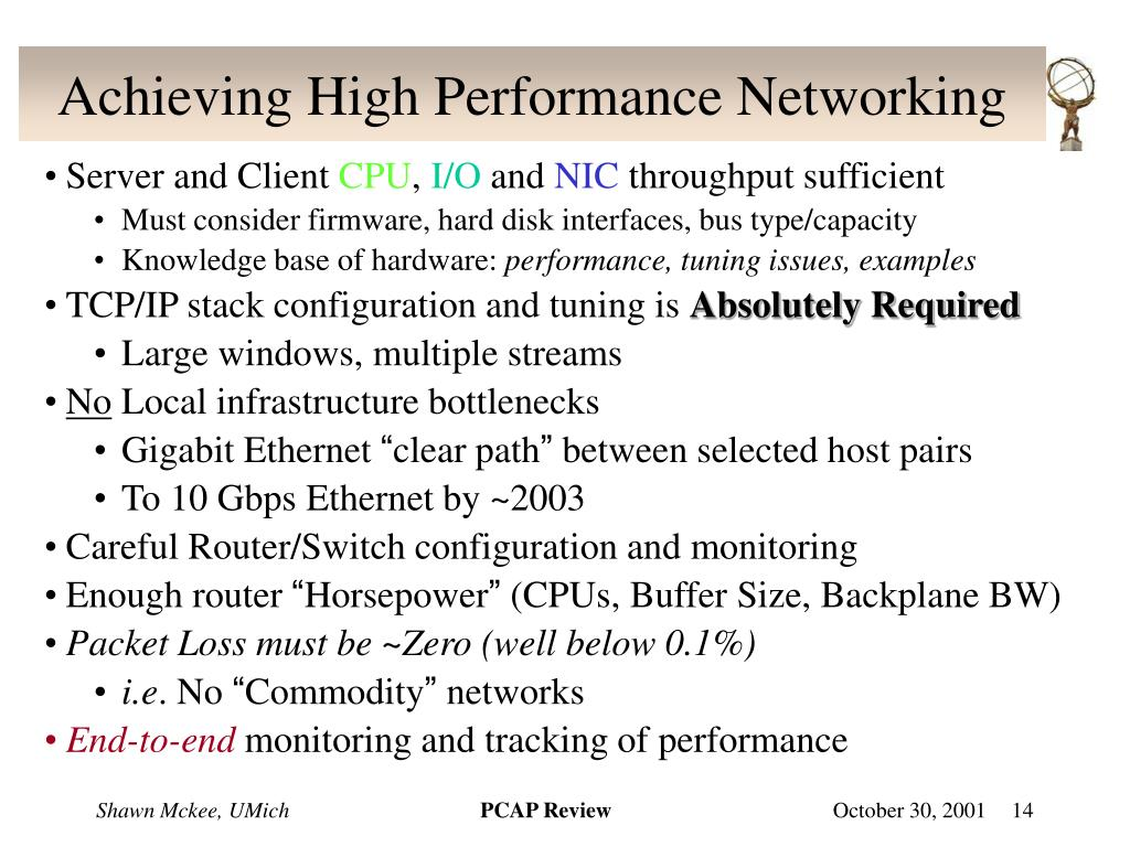 Achieving High Performance Networking