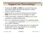 support for networking