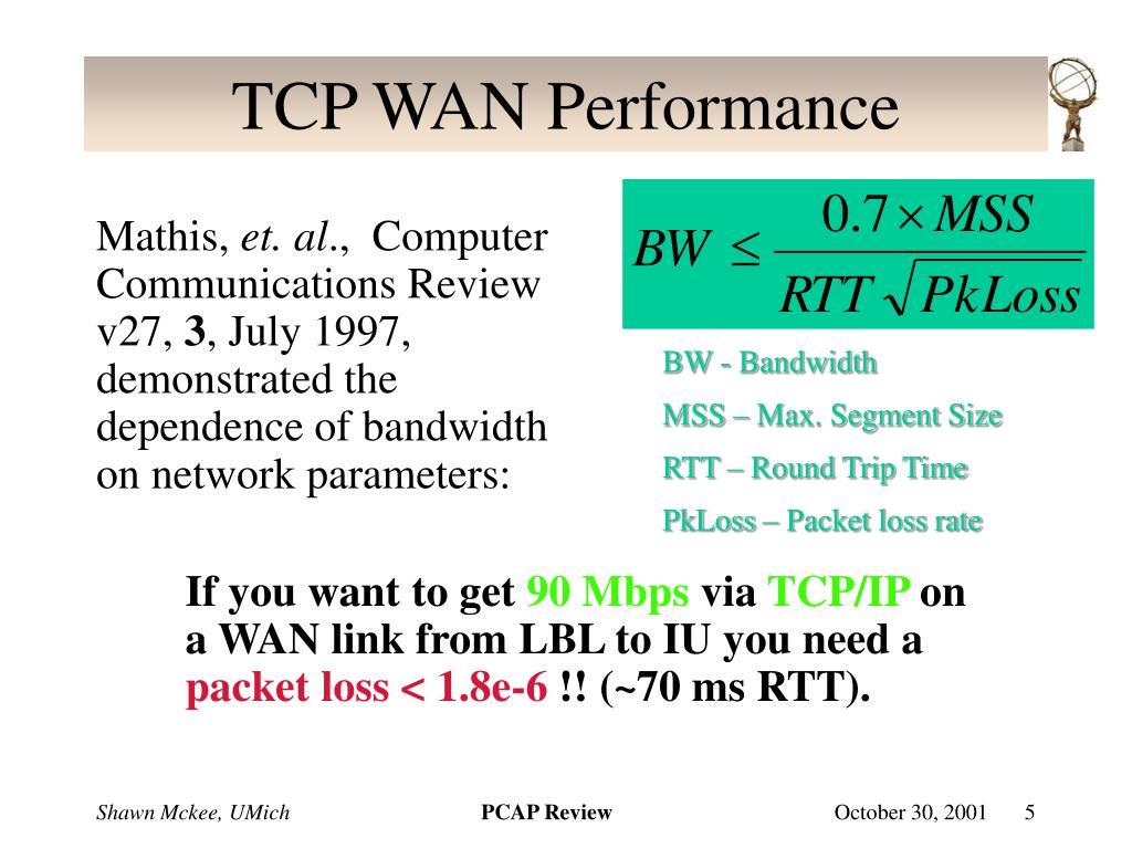 TCP WAN Performance