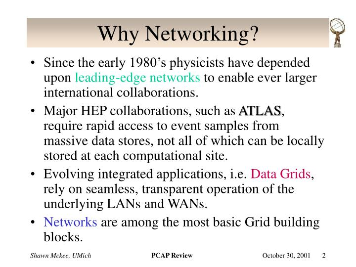 Why networking