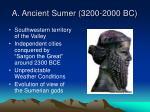 a ancient sumer 3200 2000 bc