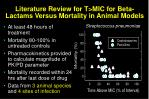 literature review for t mic for beta lactams versus mortality in animal models