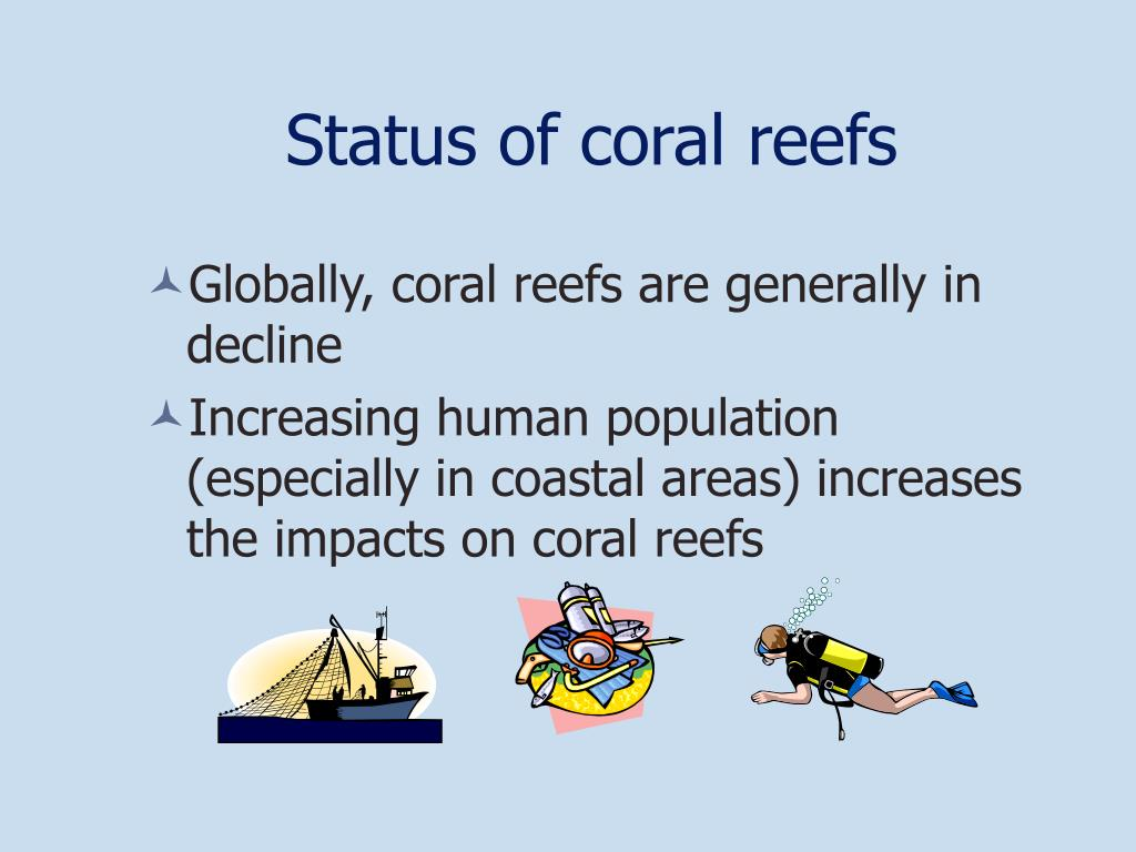 Status of coral reefs