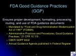 fda good guidance practices ggp