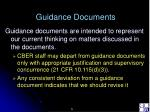 guidance documents5
