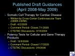 published draft guidances april 2008 may 2009
