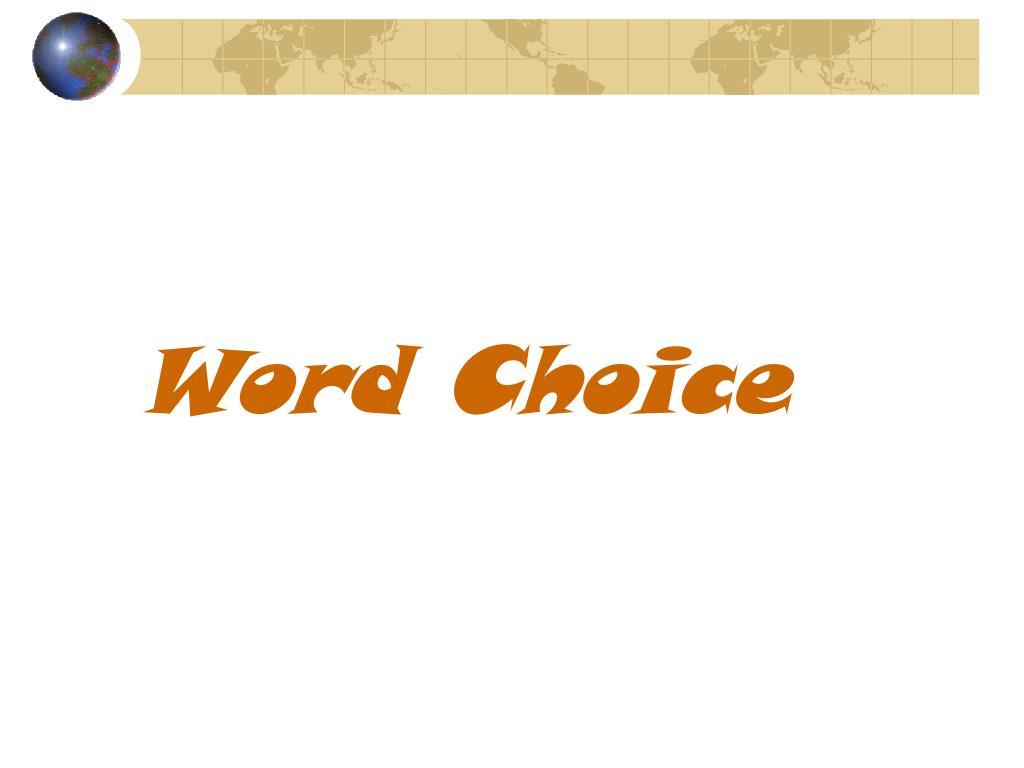word choice l.