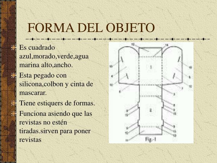 Forma del objeto