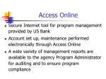 access online