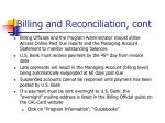 billing and reconciliation cont15