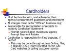 cardholders