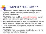 what is a cal card