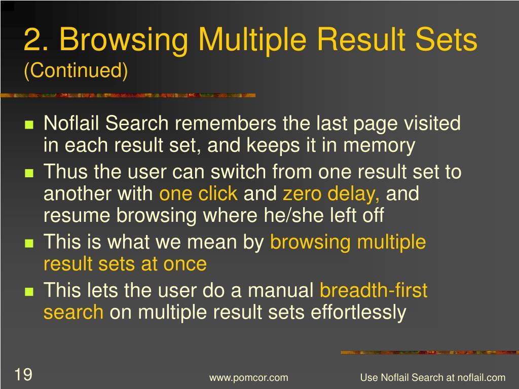2. Browsing Multiple Result Sets