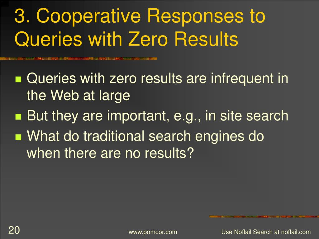 3. Cooperative Responses to Queries with Zero Results