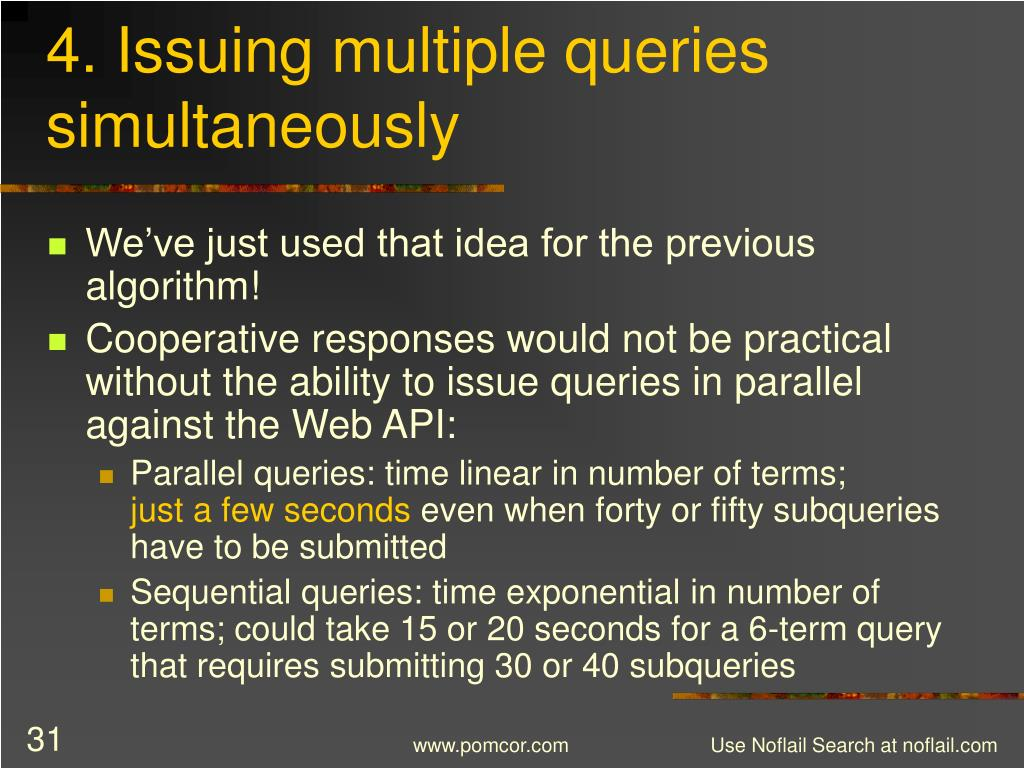 4. Issuing multiple queries simultaneously