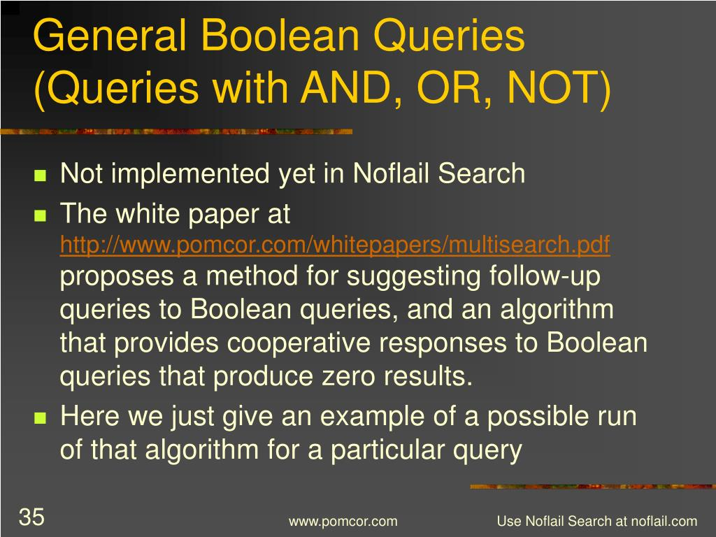 General Boolean Queries (Queries with AND, OR, NOT)