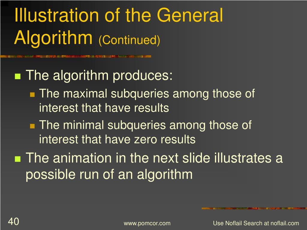 Illustration of the General Algorithm