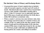 the intrinsic value of money and exchange rates
