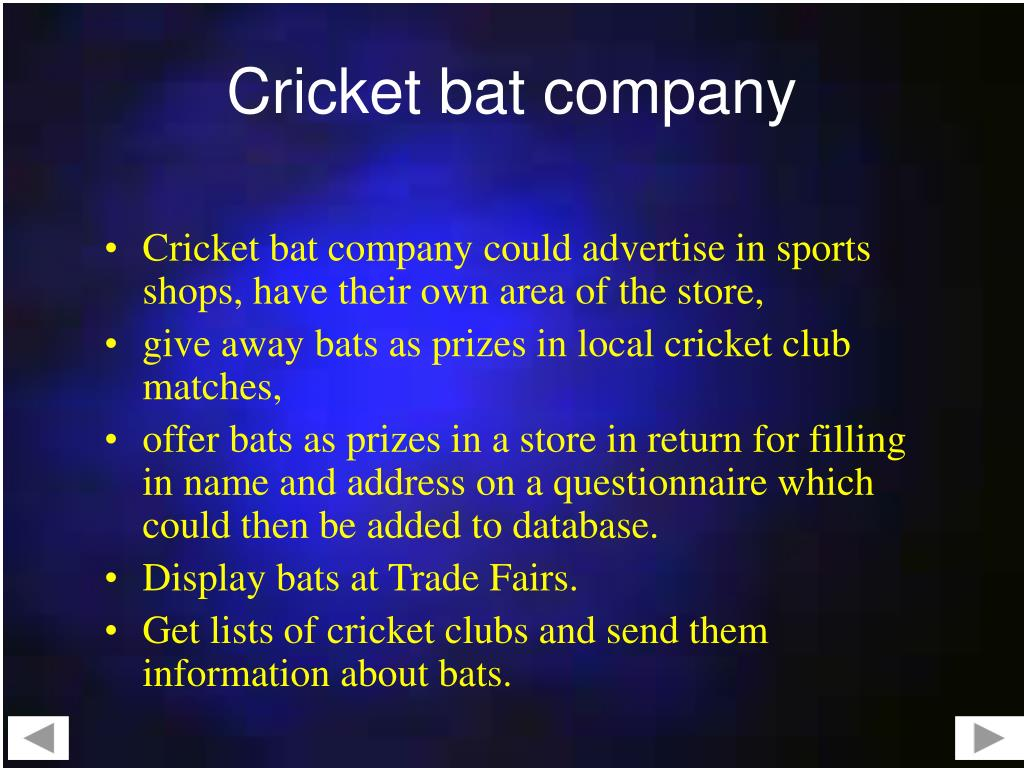Cricket bat company