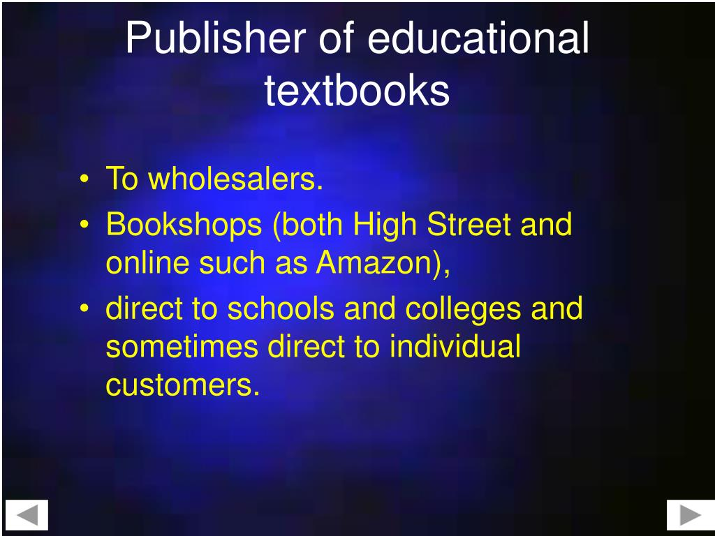 Publisher of educational textbooks