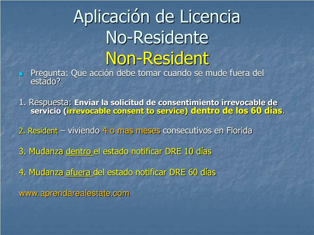Aplicación de Licencia