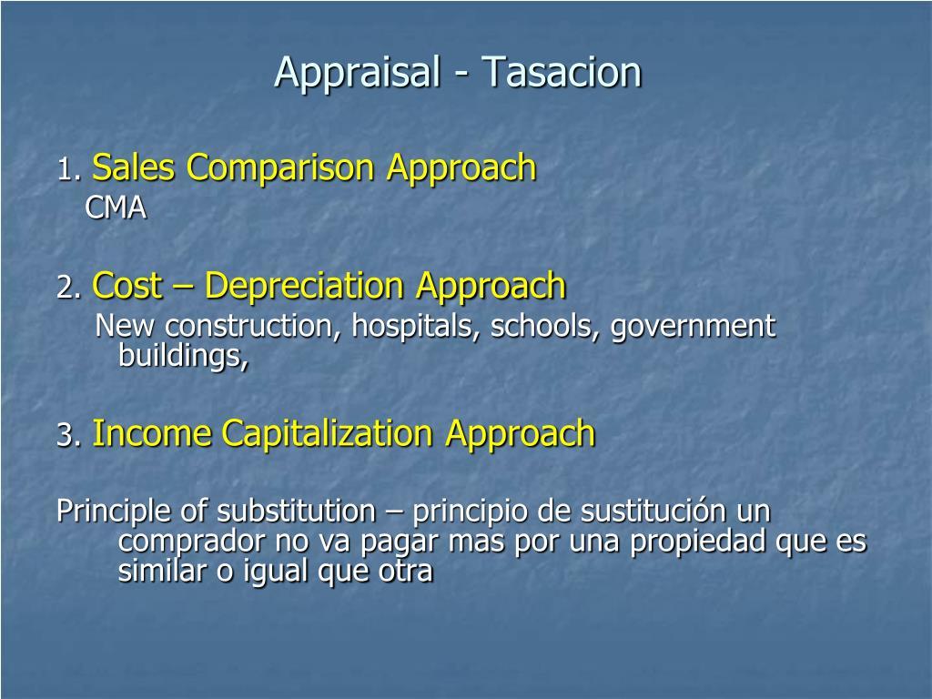 Appraisal - Tasacion