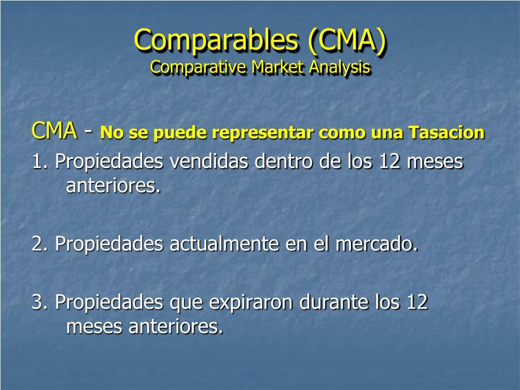 Comparables (CMA)