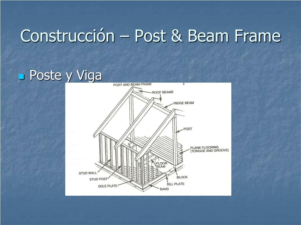 Construcción – Post & Beam Frame