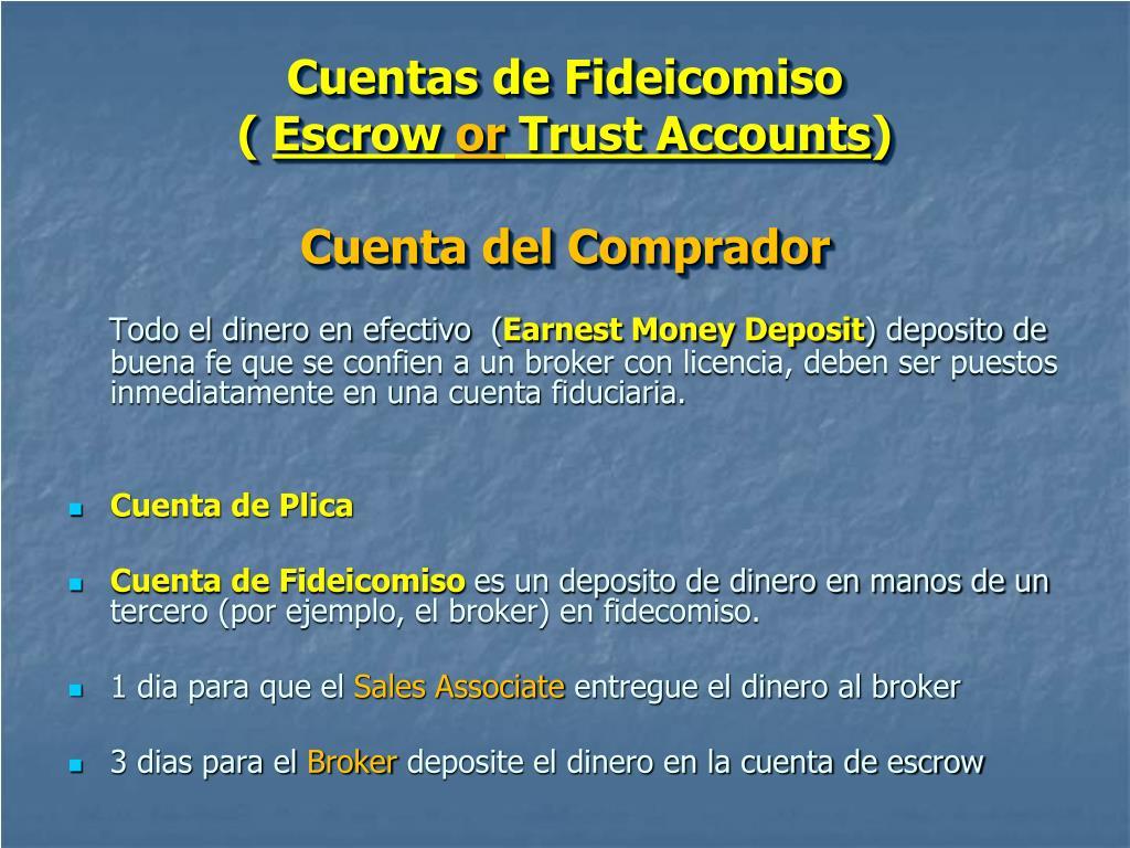Cuentas de Fideicomiso