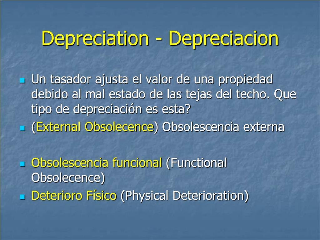 Depreciation - Depreciacion