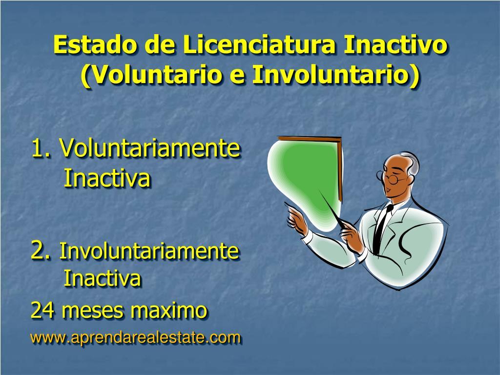Estado de Licenciatura Inactivo