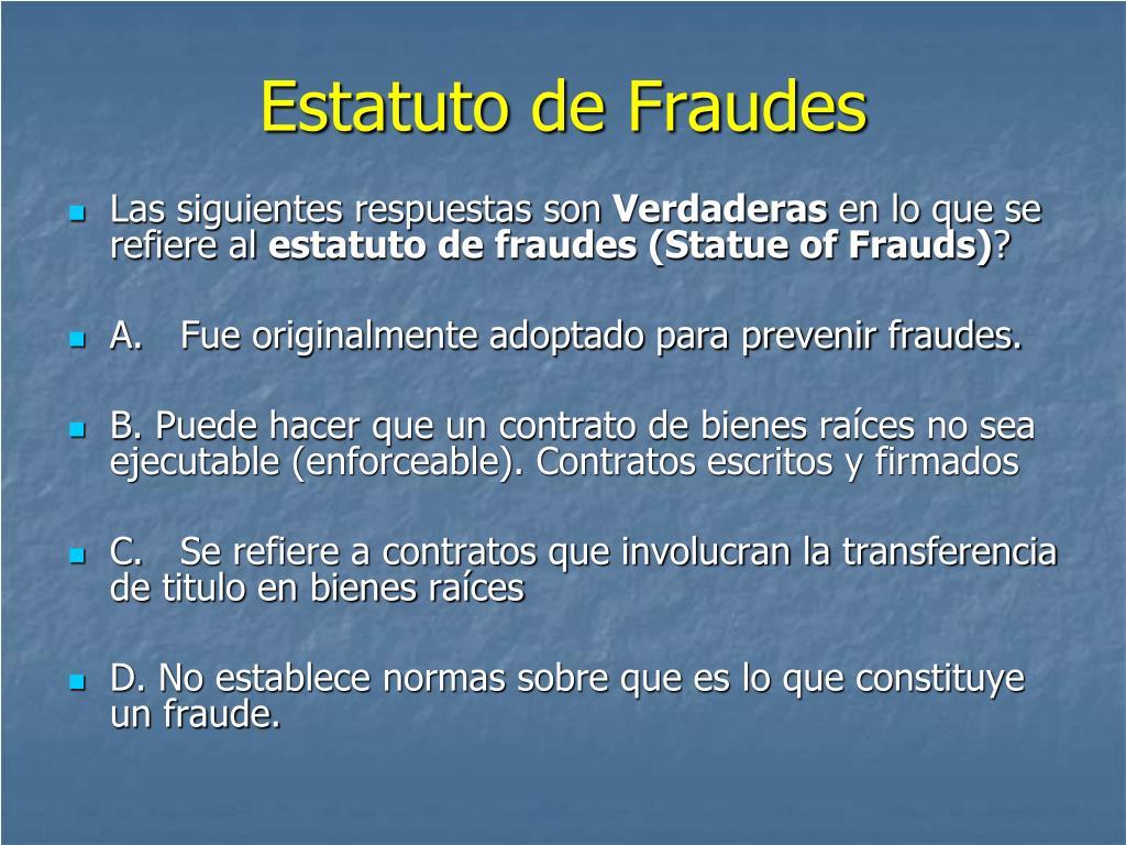 Estatuto de Fraudes