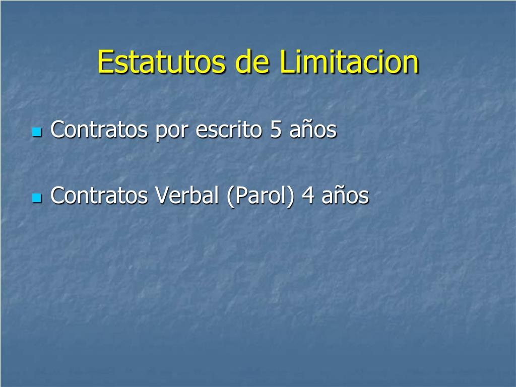 Estatutos de Limitacion