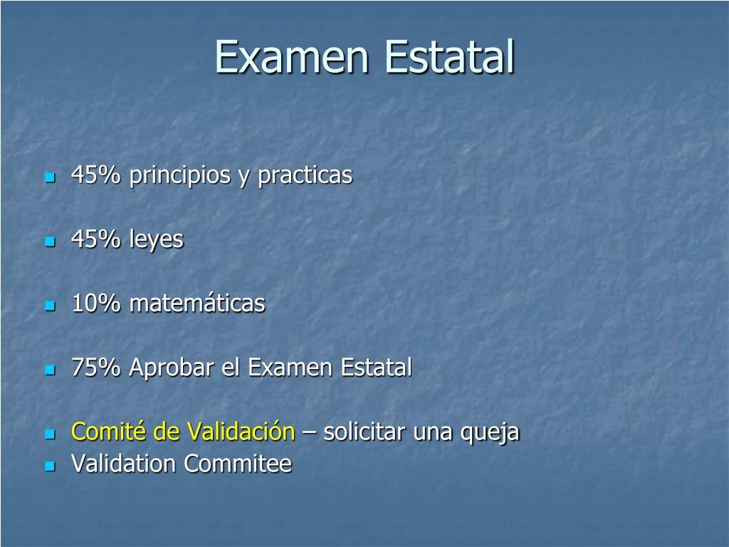 Examen Estatal