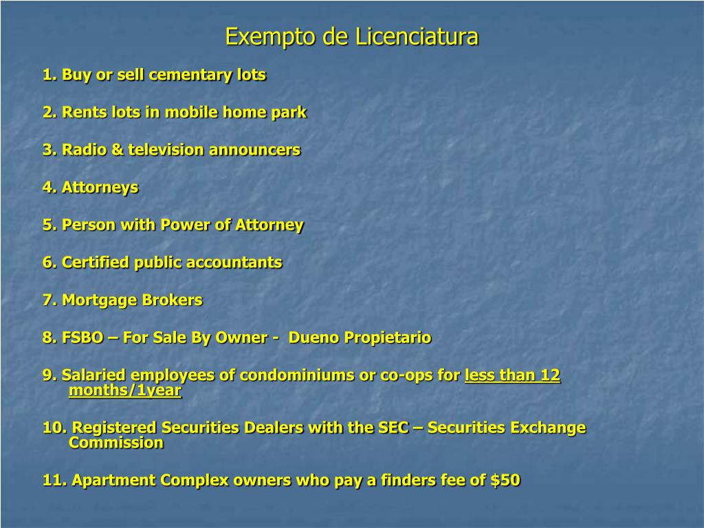 Exempto de Licenciatura