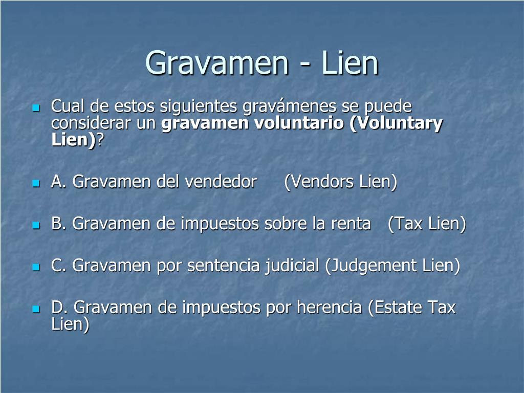Gravamen - Lien