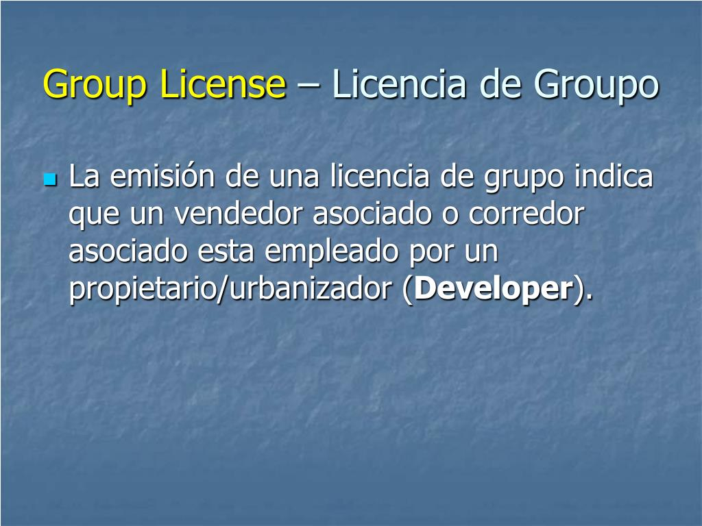 Group License