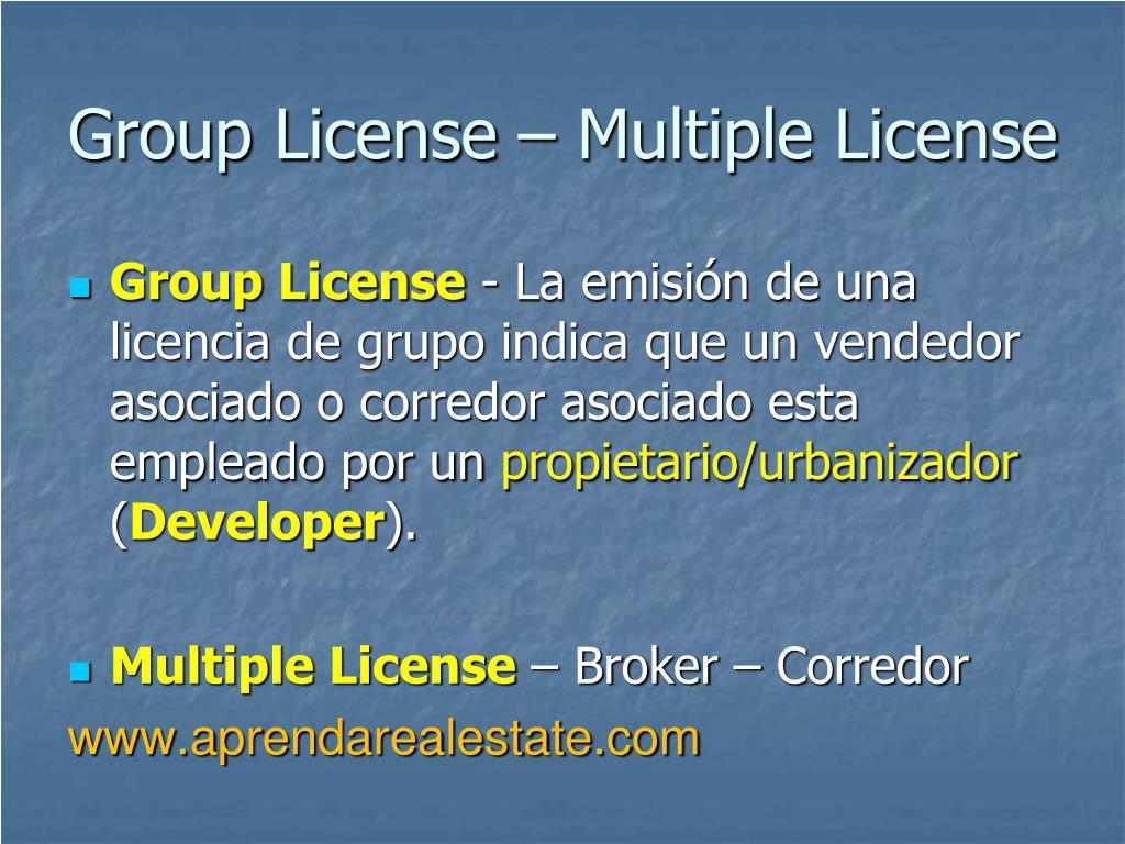 Group License – Multiple License