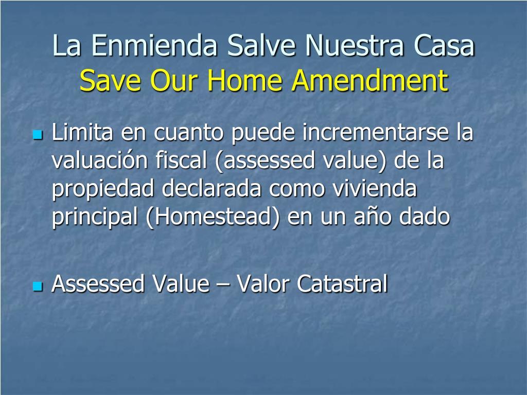 La Enmienda Salve Nuestra Casa