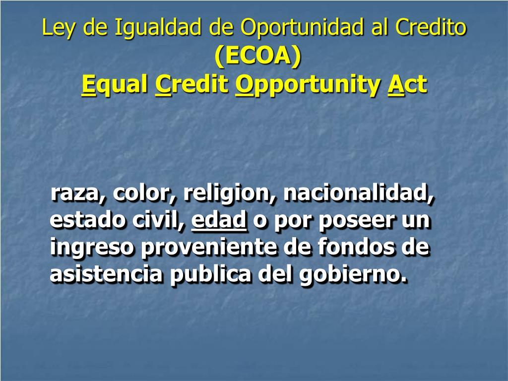 Ley de Igualdad de Oportunidad al Credito