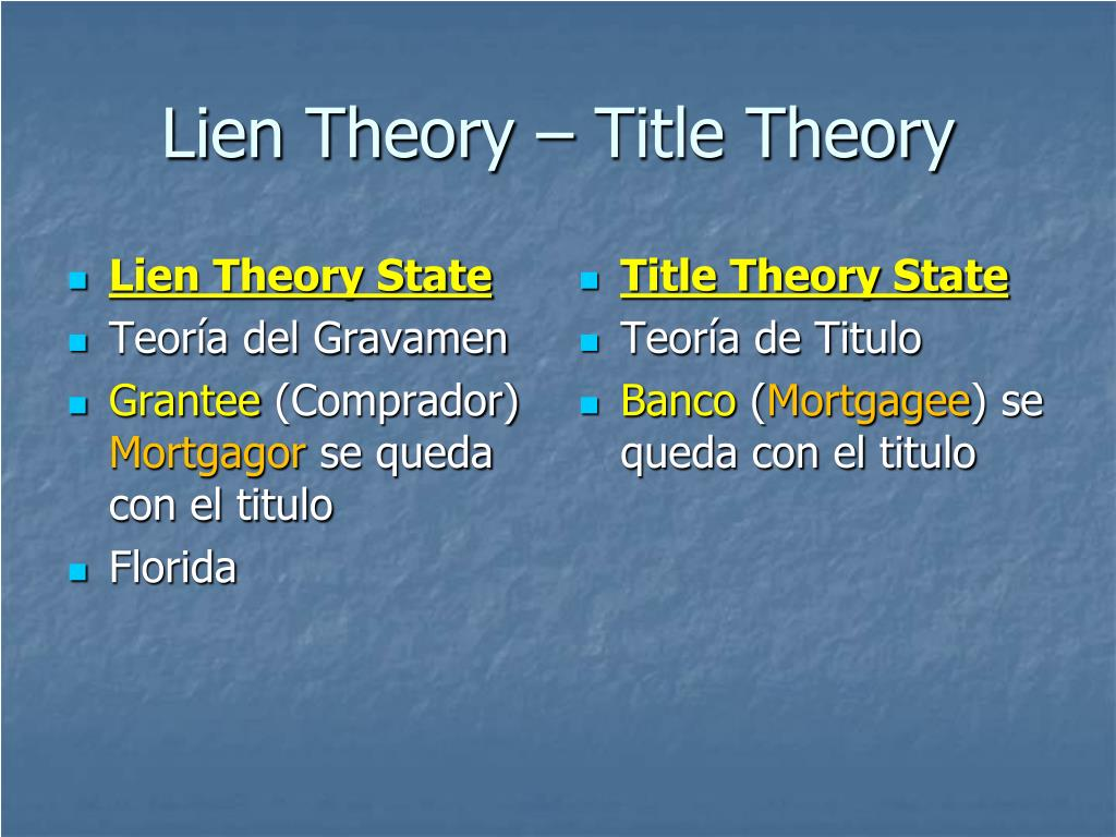 Lien Theory State