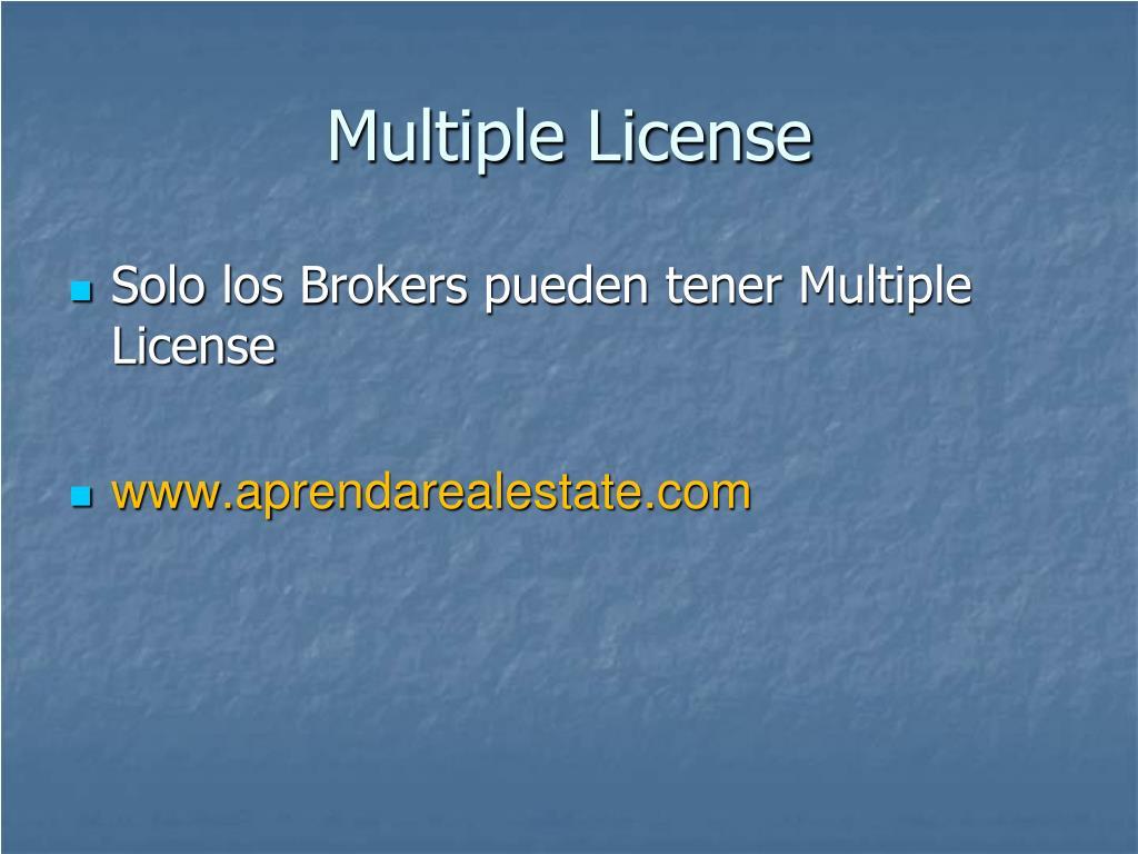 Multiple License
