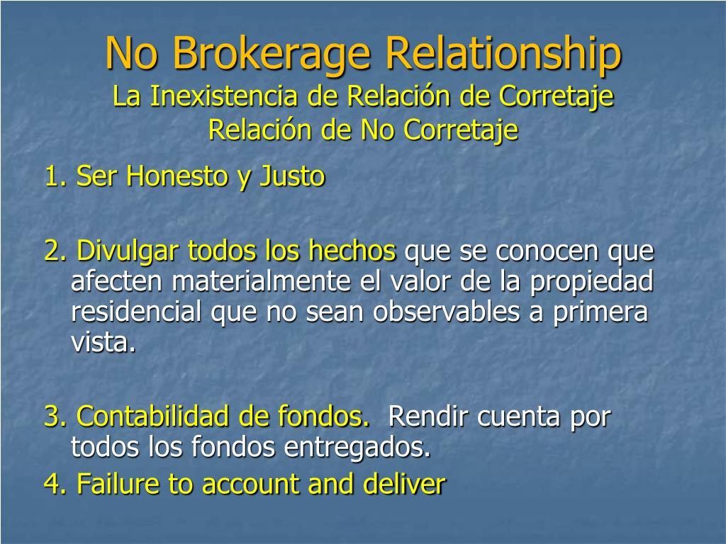 No Brokerage Relationship